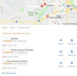 Med Spa Local SEO for medical practice marketing